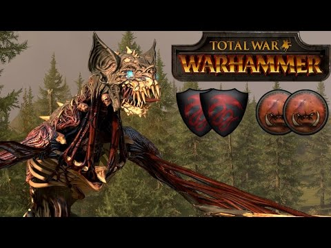 Total War Warhammer Online Battle Video 1 Vampires vs Greenskins