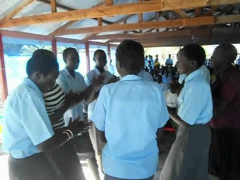South Sudan girls singing about Education