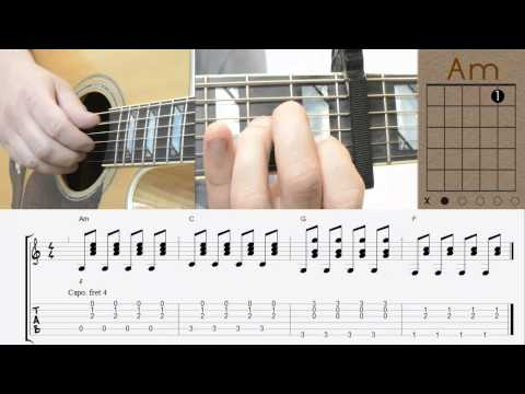 One Republic - Counting Stars   Tutorial   Guitar Lesson   Chords   Akkorde video