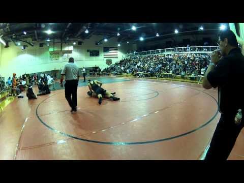 Kaulin Garcia of Damien High School Wrestling CIF Norte Vista High School 2014