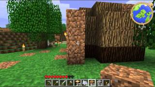 Minecraft - Lets Play Ep. 002 - Log cabin 101.