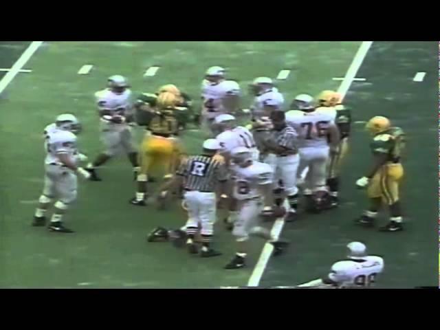 Oregon LBs Andy Conner & Ernest Jones sack WSU QB Drew Bledsoe 9-07-91