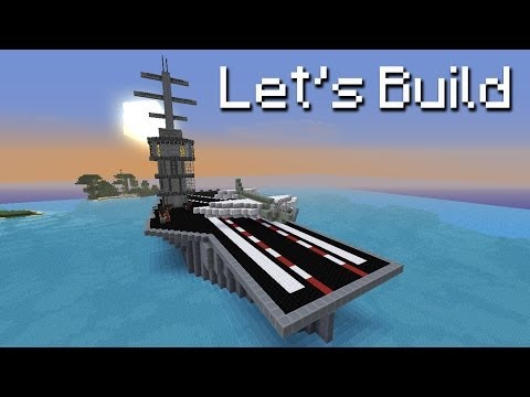 Minecraft Mega Build - Aircraft Carrier with Working Plane!