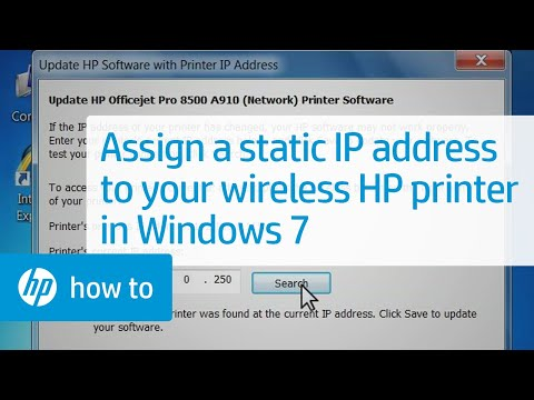 assign ip to printer
