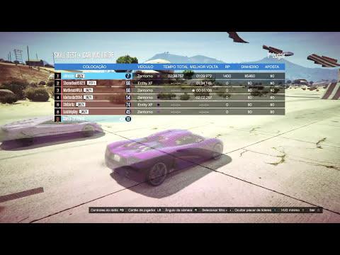 GTA V Online - Teste de habilidades com CARRO! Rampas + Wallride