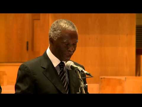"Dr Thabo Mbeki - ""The potential of African students in light of the Arab Spring"""