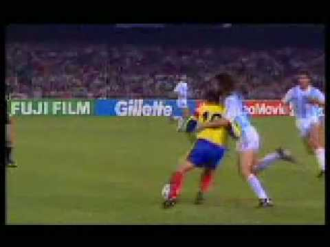 Hagi and Maradona fouling each other (WC 90)
