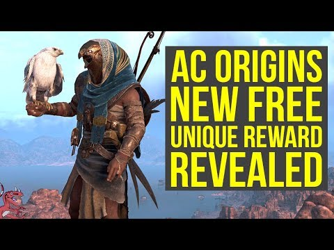 Assassin's Creed Origins DLC NEW UNIQUE REWARD Gameplay - White Senu (AC Origins Update 1.40)