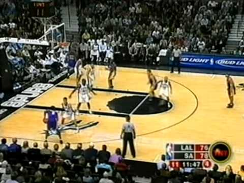 NBA Greatest Duos: Shaquille O'Neal & Kobe Bryant vs Spurs (2003)