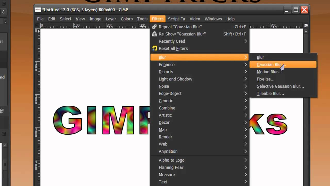 Gimp Stained Glass Tutorial