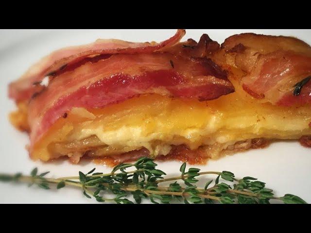 Картофель с беконом. Мильфей //Potato and bacon/ Mille feuille