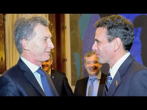Capriles pide en Argentina firmeza para defender a Venezuela