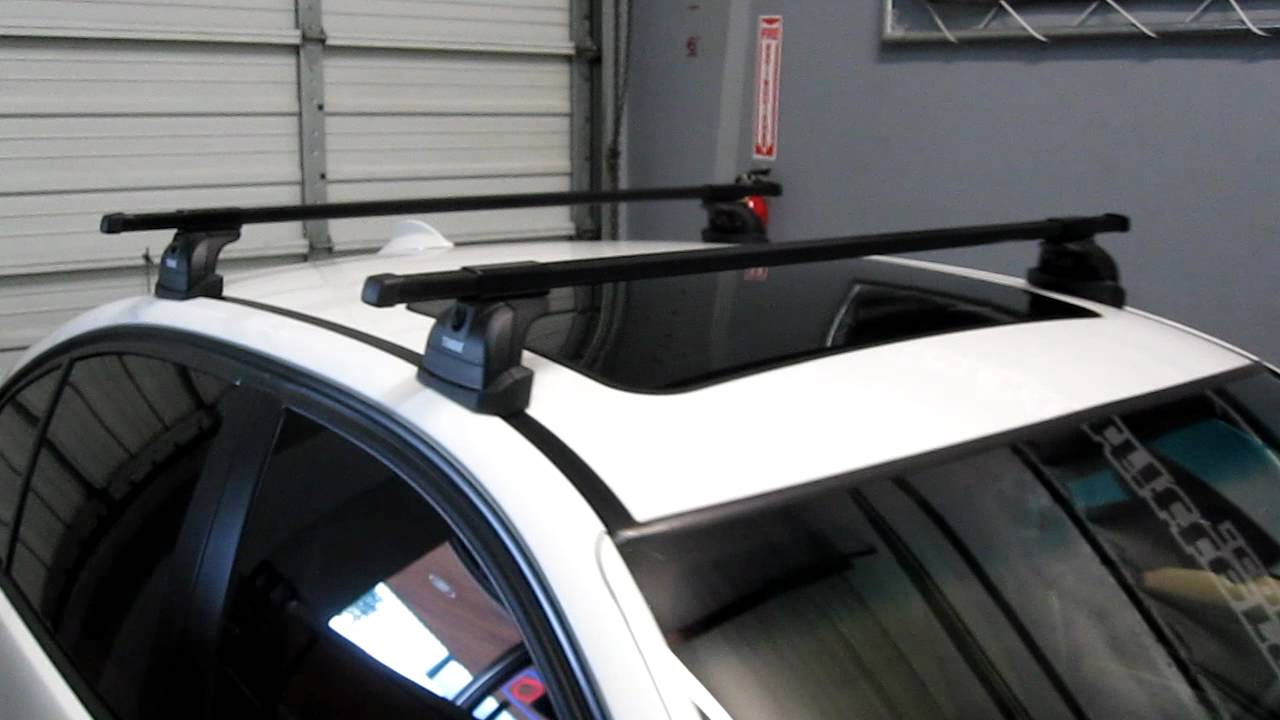 Bmw 3 Series With Thule 460 Podium Base Roof Rack By Rack