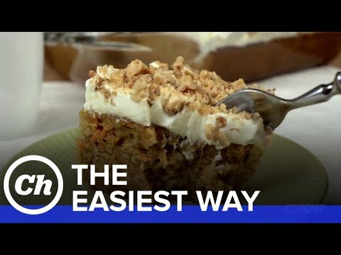 How to Make an Easy Carrot Cake with Cream Cheese Frosting - The Easiest Way