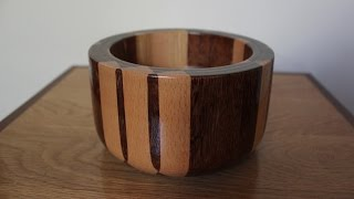 Minecraft Bowl - Real Wood - Woodturning Video