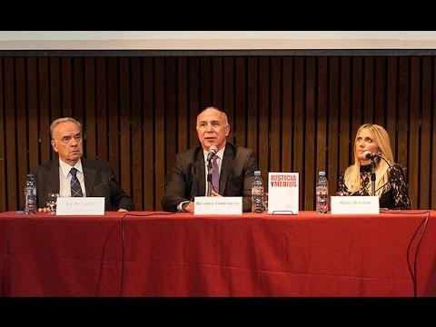 Ricardo Lorenzetti y Lauro Laíño presentaron el libro Justicia y Medios.