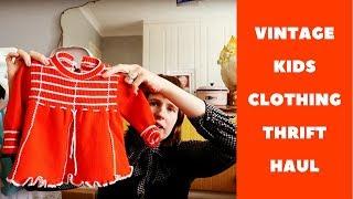 Vintage Kids Clothing Thrift Haul #1 #haul #vintageclothing