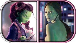 EVOLUTION of GAMORA in Movies TV Cartoons (1998-2018) Gamora origins infinity war gamora death scene