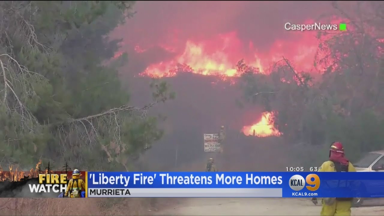 Liberty FIre Threatens More Homes
