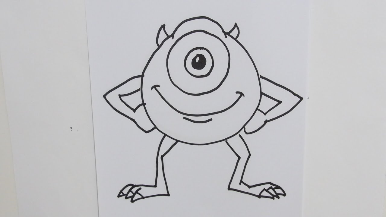Mike Wazowski Drawing How to Draw Mike Wazowski From