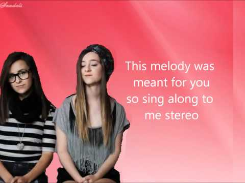 Megan And Liz - Stereo Hearts Lyrics video