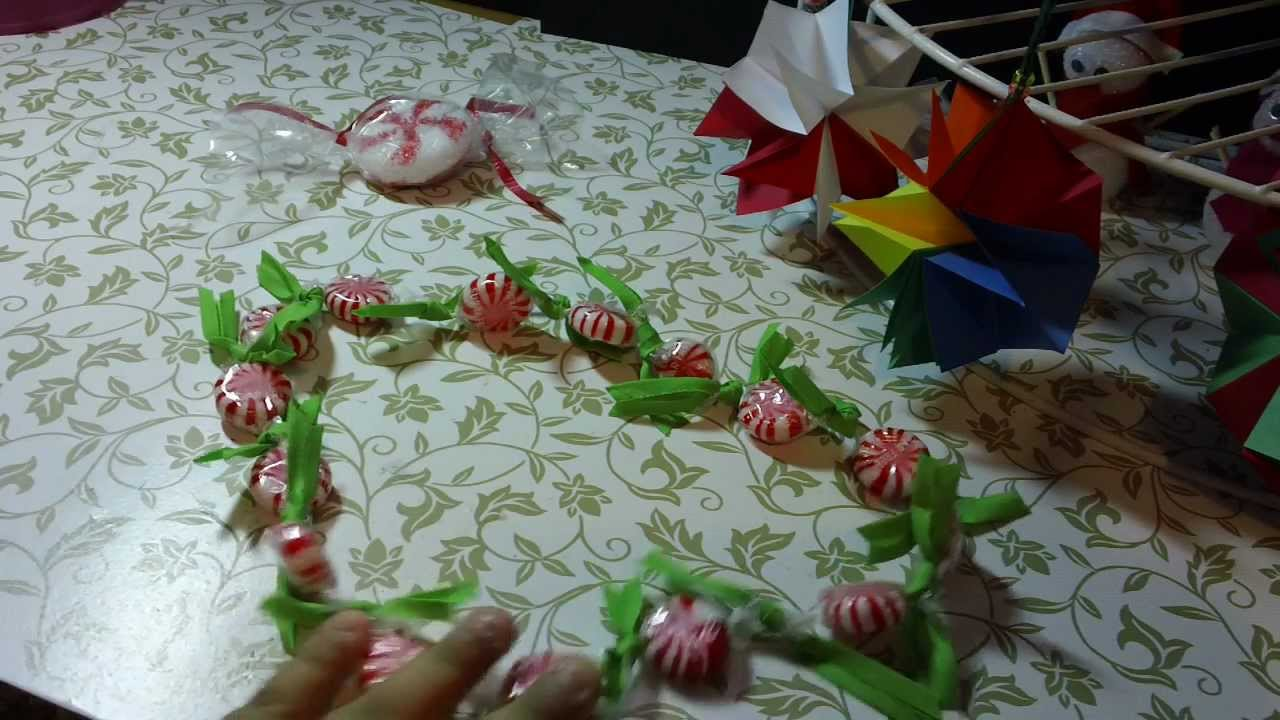 Guirnalda de dulces para navidad facil y original youtube - Guirnalda de navidad ...