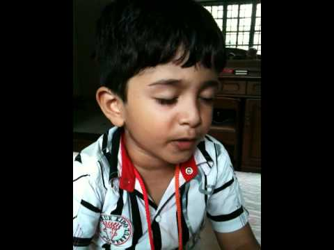 Sooryanai thazuki...4 year old singing