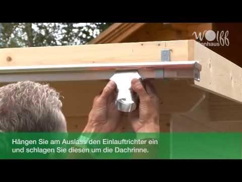 Wolff Finnhaus - Montage Metalldachrinne