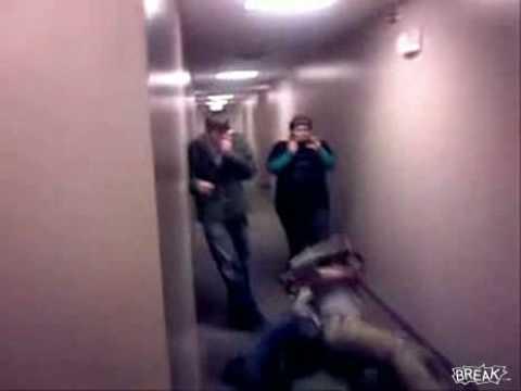 funny surveys. Funny Hallway Stunt Fail Video