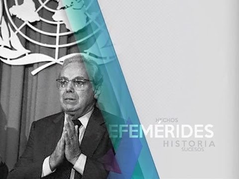 13/12/16 Efeméride - Javier Pérez de Cuellar #Perú