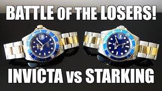 Automatic Dive Watch Duel! Invicta Pro Diver 8928OB vs Starking AM0261 - Perth WAtch #213