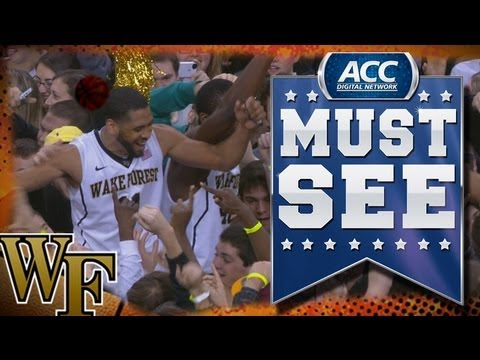 Wake Forest Fans Storm Court After Defeating #2 Miami - ACC Must See Moment