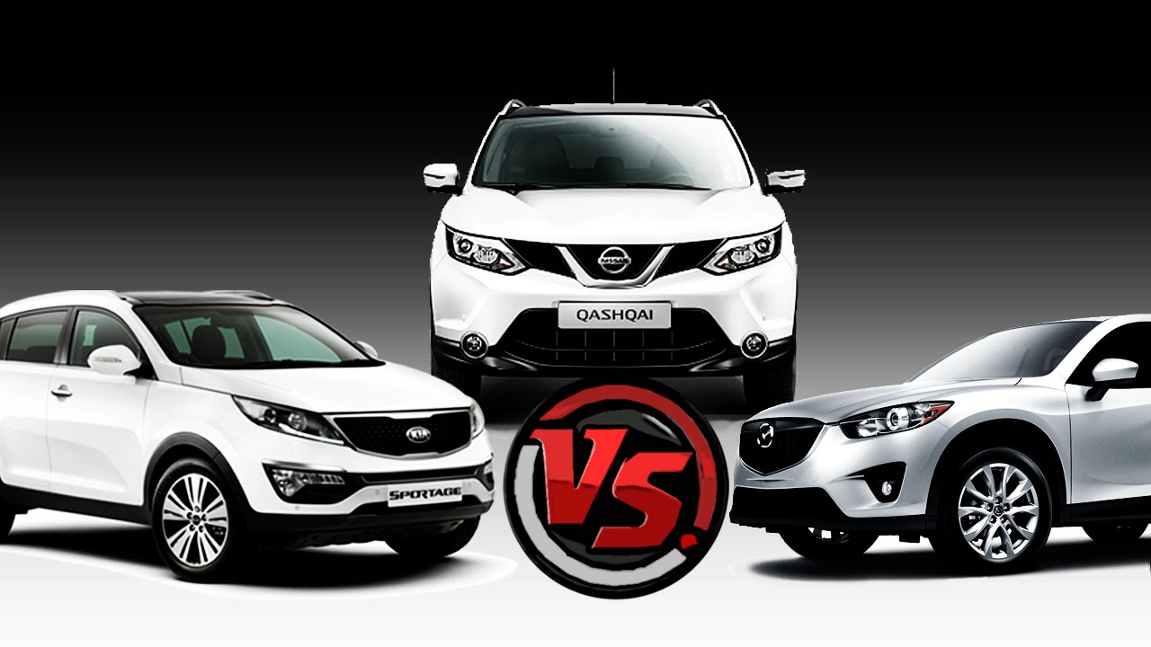2hp: Mazda CX 5 Vs Nissan Qashqai Vs KIA Sportage - YouTube