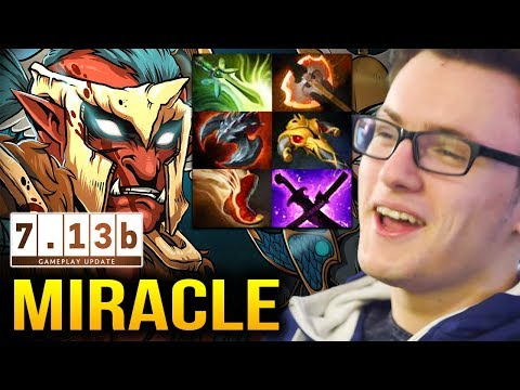 MIRACLE Trollwarlord 7.13b CRAZY FAST ATK SPEED Dota 2