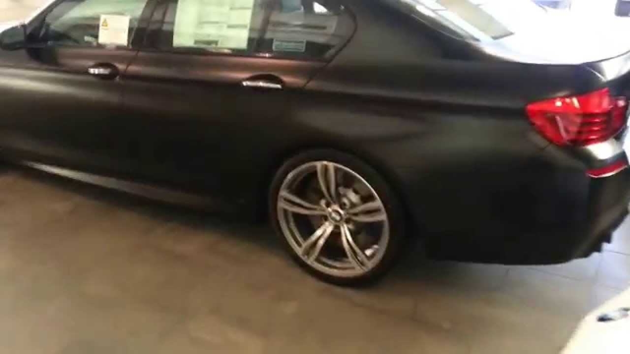 "Bmw M5 F10 >> New Frozen Black BMW M5 & M6 with black 20""s Matte Black - YouTube"