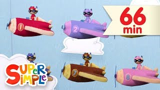 10 Little Airplanes | + More Kids Songs | Super Simple Songs