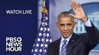 WATCH LIVE: President Obama's Final Press Conference