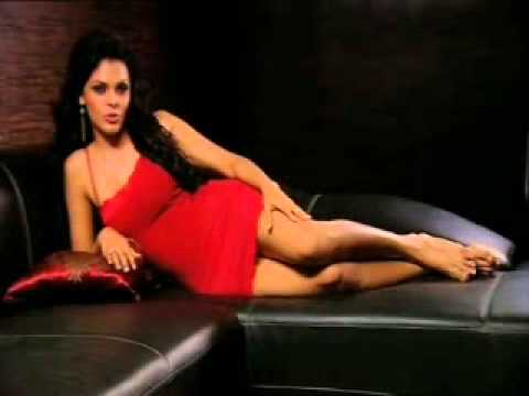 Sherlyn Chopra dazzling spicy lingerie live on the couch