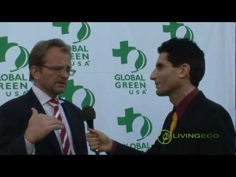 Global Green USA CEO Matt Petersen interviewed by Ken Spector - 2013 Global Green Pre-Oscar Party