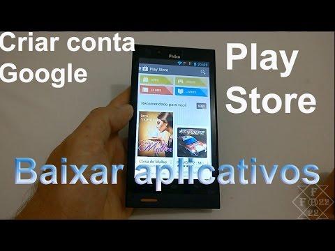 Criar Conta da Google na Play Store para baixar Aplicativos