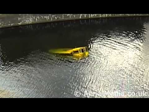 Liverpool's Duck bus sinks in the albert dock