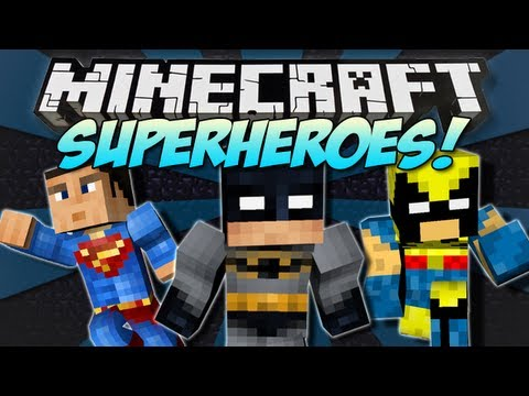Minecraft | SUPERHEROES MOD! | Batman, Superman, Wolverine & More! [1.4.7]