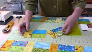 "How to make a Rectangles Block using 5"" squares - Quilting Tips & echniques 047"