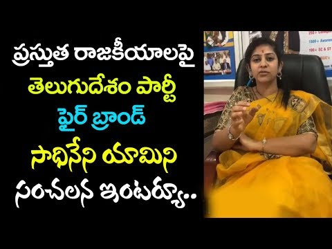 Sadineni Yamini Face to Face with iMedia about Present AP Politics || iMedia