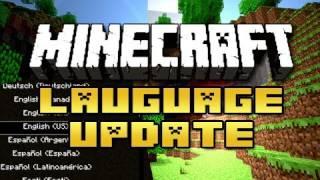 Minecraft: Language Update!