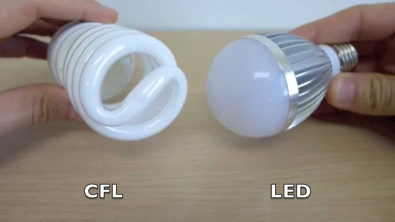 Up Close Series Led Vs Cfl Light Bulb Youtube