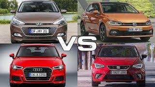 Hyundai i20 vs Volkswagen Polo vs Audi A3 Sportback vs Seat Ibiza