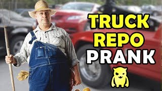 Truck Repossession Prank - Ownage Pranks