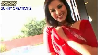Sunny Leone Removing Her Red Saree In Open Place 2017