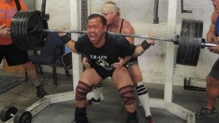 Bulo and Jon squatting 500+  at metroflex raw footage